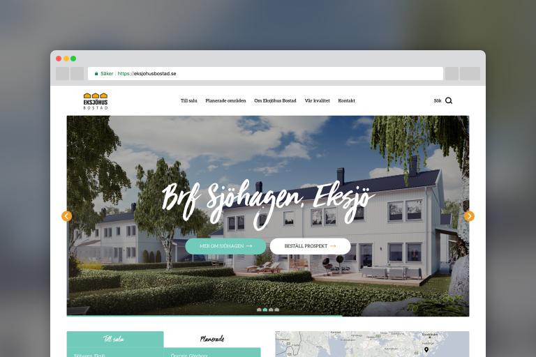 Eksjöhus Bostad - Webbplats