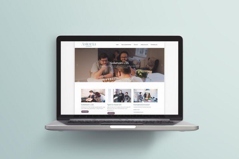 Astoria - Webbplats och grafisk profil