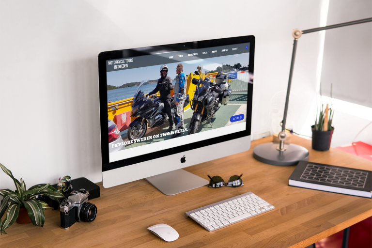 Motorcycle Tours Sweden - Webbplats