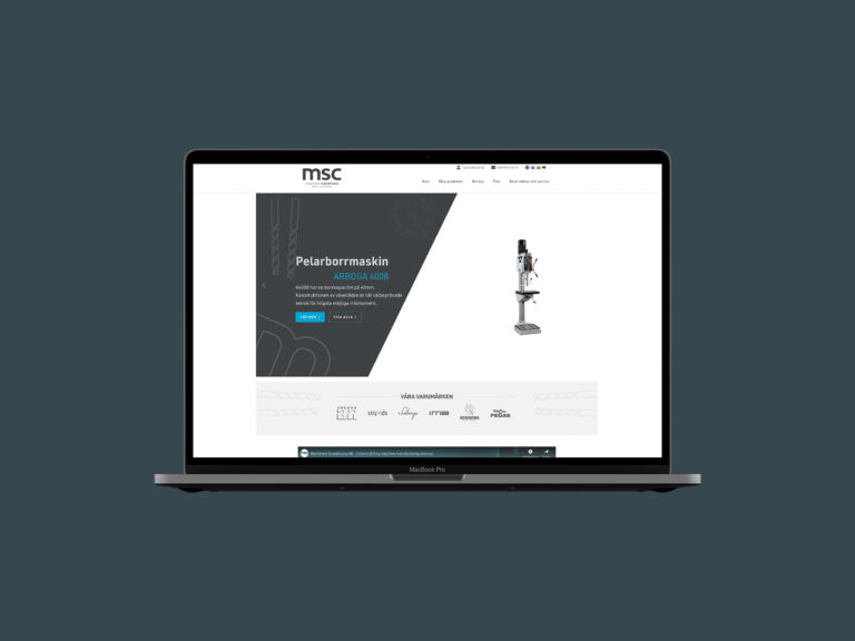 Grafisk plattform & Webbplats - Machinery Scandinavia