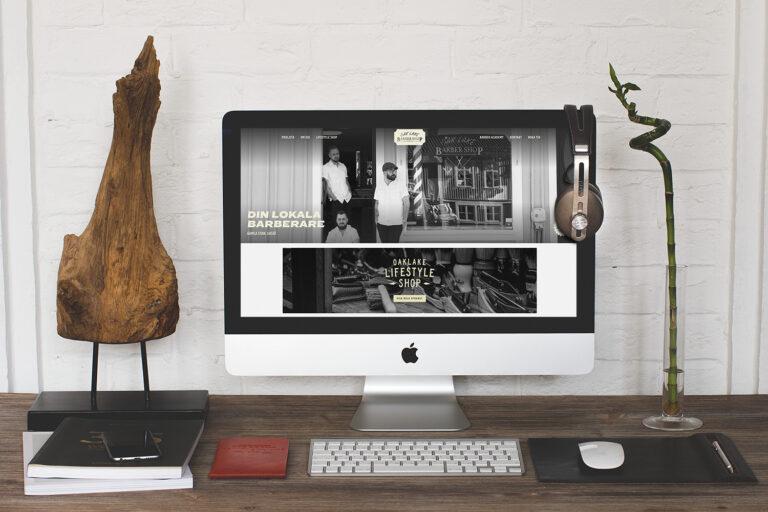 Webbplats - Oaklake Barbershop